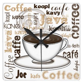 Café em todo o mundo relógios para pendurar