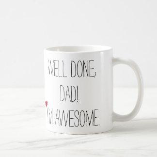 Café engraçado do chá do dia dos pais das citações caneca de café