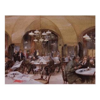 Café Griensteidl, Viena, 1890 Cartão Postal