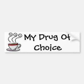café, minha droga da escolha adesivo para carro