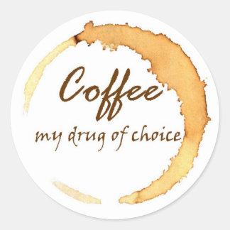 Café - minha droga da escolha adesivo