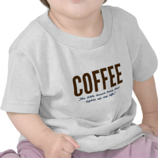 Café - o feijão pequeno de Brown Tshirts