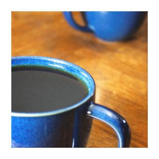Café preto 2 impressão de canvas envolvidas