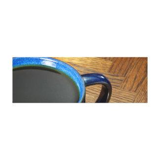 Café preto impressão em tela