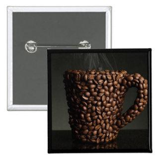 Café surpreendente photo-3 bóton quadrado 5.08cm