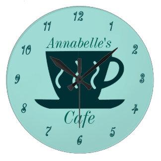 Cafetaria feita sob encomenda do café ou do relógios para pendurar