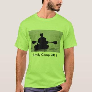 Caiaque, acampamento 2011 da família camiseta