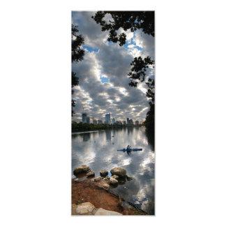 Caiaque do lago ladybird - skyline - Austin Texas Impressão De Foto