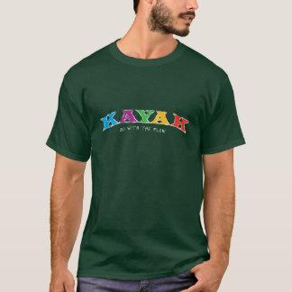 Caiaque… Vá com o t-shirt do fluxo