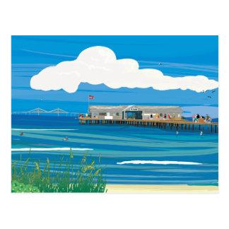 Cais da cidade da ilha de Anna Maria Cartão Postal