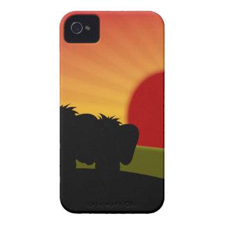 Caixa afortunada bonito de Blackberry do dia dos Capa Para iPhone 4 Case-Mate