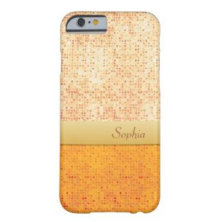 Caixa alaranjada Glittery feminino do iPhone 6 das Capa Barely There Para iPhone 6