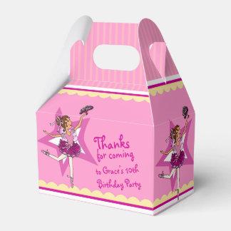 Caixa amarela cor-de-rosa do favor do aniversário lembrancinhas para casamento