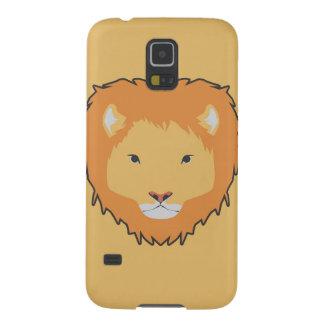 caixa amarela da galáxia 5 de Samsung do leão Capinha Galaxy S5