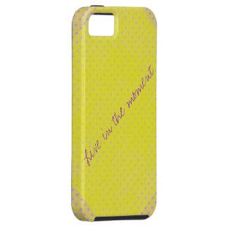Caixa amarela do iphone 5 das bolinhas iPhone 5 capa