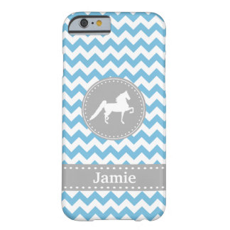 Caixa azul customizável do iPhone 6 de Saddlebred Capa Barely There Para iPhone 6
