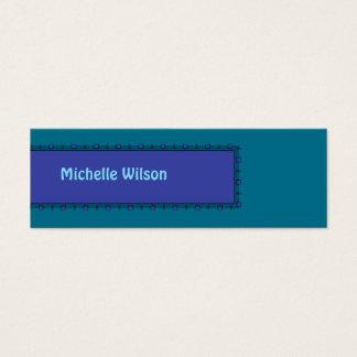 Caixa azul da modificação da cerceta escura cartão de visitas mini