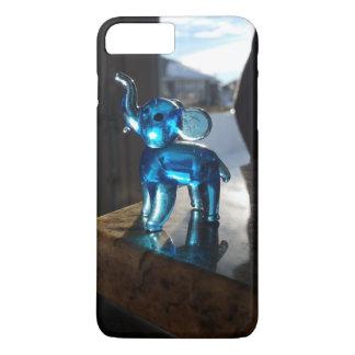 Caixa azul do elefante capa iPhone 7 plus