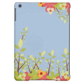 caixa azul do iPad do jardim de flores Capa Para iPad Air