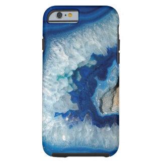 Caixa azul do iPhone 6 de Geode da ágata da safira Capa Tough Para iPhone 6