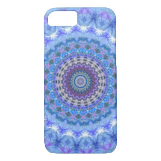 Caixa azul do iPhone 7 da mandala Capa iPhone 7