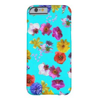 Caixa azul floral capa barely there para iPhone 6