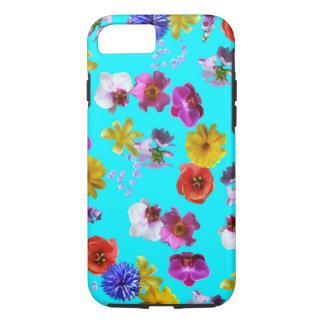 Caixa azul floral capa iPhone 8/7