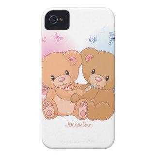 Caixa bonito de Blackberry do abraço do amor do ur Capas iPhone 4 Case-Mate