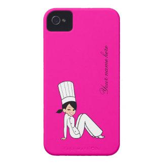 Caixa bonito de Blackberry do cozinheiro chefe Capas Para iPhone 4 Case-Mate