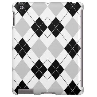 Caixa branca e cinzenta preta do iPad de Argyle Capa Para iPad