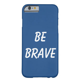 Caixa brava azul capa barely there para iPhone 6