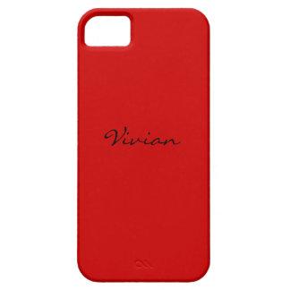 Caixa carmesim vermelha do iPhone 5 mal lá Capas Para iPhone 5