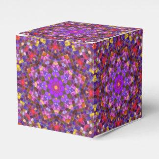 Caixa clássica do favor 2x2 do estilo do azulejo caixinha de lembrancinhas para festas