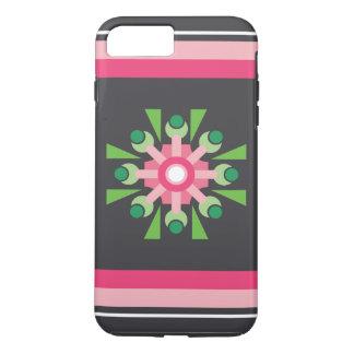 Caixa cor-de-rosa abstrata da flor capa iPhone 8 plus/7 plus