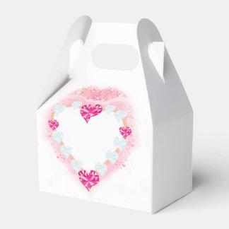 caixa cor-de-rosa do favor do coração dos lembrancinhas para casamento