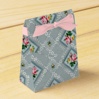 Caixa cor-de-rosa do papel de parede do vintage da caixinha de lembrancinhas