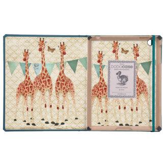 Caixa cor-de-rosa dos girafas capas iPad