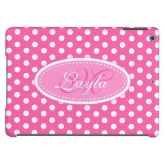 Caixa cor-de-rosa macia nomeada bolinhas do ar do capa para iPad air