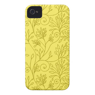 Caixa corajosa amarela floral de Blackberry do Capinha iPhone 4
