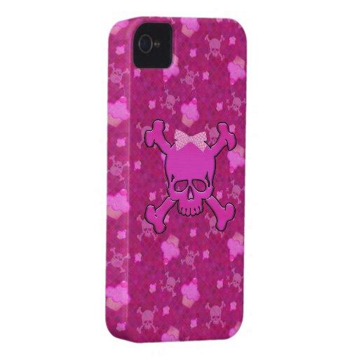 Caixa corajosa cor-de-rosa bonito de Blackberry do iPhone 4 Capa