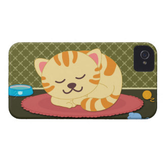 Caixa corajosa da amora-preta bonito do divertimen capas iPhone 4 Case-Mate
