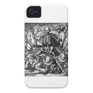 Caixa corajosa da amora-preta triunfante da morte capas para iPhone 4 Case-Mate