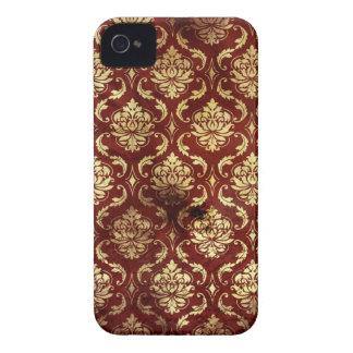 caixa corajosa da amora-preta vermelha da capinha iPhone 4