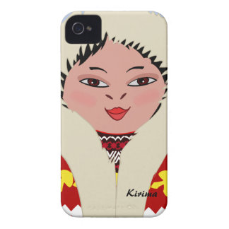 Caixa corajosa de Blackberry da menina Eskimo boni Capas iPhone 4 Case-Mate