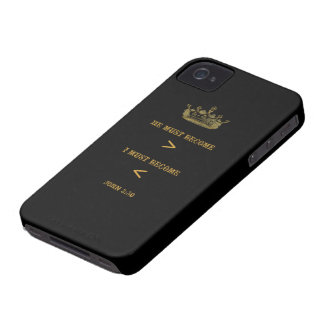 Caixa corajosa de Blackberry do 3:30 de John (anti iPhone 4 Capa