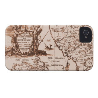 Caixa corajosa de Blackberry do mapa histórico do Capa Para iPhone 4 Case-Mate