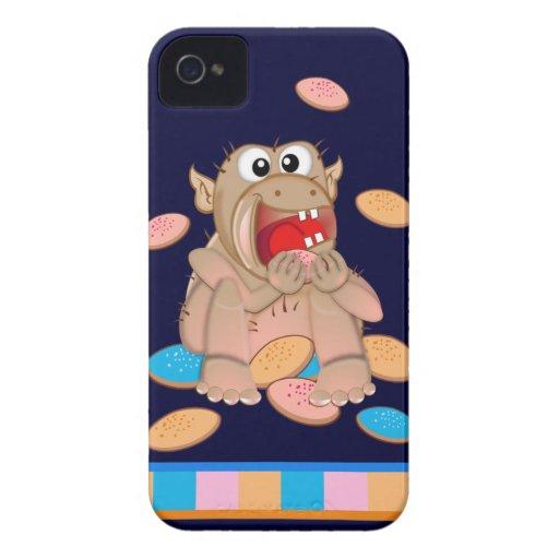 Caixa corajosa de Blackberry do monstro bonito do  Capa iPhone 4 Case-Mate