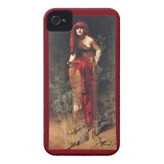 Caixa corajosa de Blackberry do Pre-Raphaelite do Capinhas iPhone 4