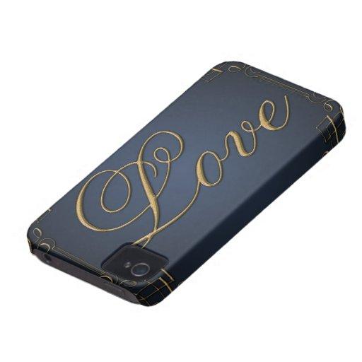 Caixa corajosa de Blackberry do vintage iPhone 4 Capa