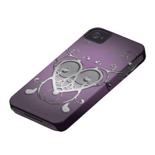 Caixa corajosa de Blackberry do vintage Capa iPhone 4 Case-Mate